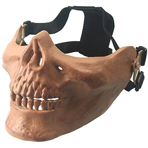 wwman Airsoft media cara máscara de calavera máscara táctico de caza al aire libre CS juego de guerra, Bones