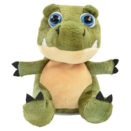 """Kögler 75946 - Laber Dino \""""Babytooth\"""", Labertier mit Aufnahme- und Wiedergabefunktion, plappert alles witzig nach und bewegt sich, ca. 20 cm groß, ideal als Geschenk für Jungen und Mädchen"""