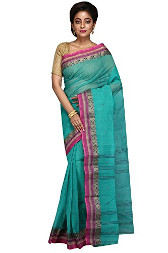 Malati Bastrabitan Sea Green Cotton Tant Saree for Women