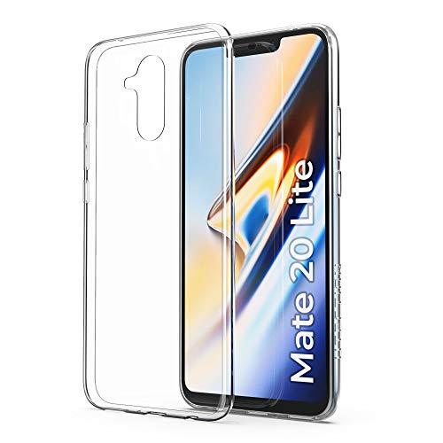 UTECTION Cover Trasparente per Huawei Mate 20 Lite - Morbida, Ultra Sottile & Leggera - Formato preciso - Custodia Protettiva, Resistente ai Graffi - Bumper Silicone in TPU della Crystal-Clear