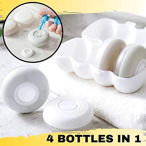 TianranRT Kosmetische Aufbewahrungsbox,Leere Leere Reiseflasche Für 4 In 1 Lotion Shampoo Lotion Zum Tonen Von Shampoo,Mehrfarbig