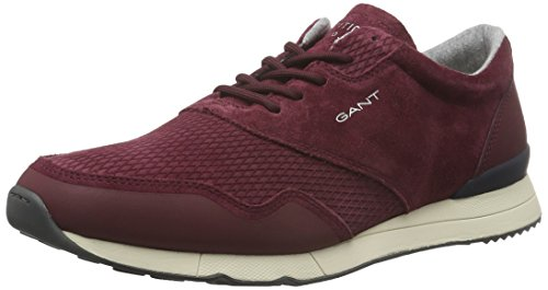 GANT Russell, Baskets Basses Homme, Rouge-Rot (Mahagoni Red G53), Taille 43