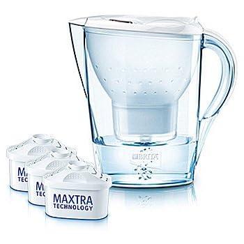 Brita Wasserfilter Marella Cool weiß inklusive 3 Kartuschen