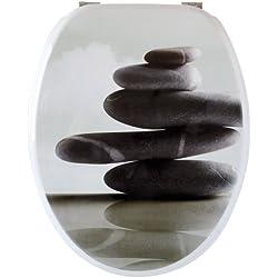 GELCO Design Abattant WC Zen, Bois Moule, Gris, 45 x 37 x 6 cm
