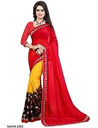 Krishna Emporia Women's Georgette Saree With Blouse Piece (Saree For Women's Gst 399_Multicolor)