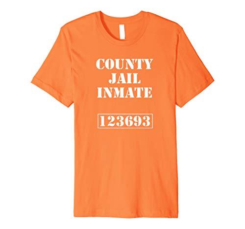 Knast Gefängnis Karneval Kostüm Jail Insasse T-Shirt (Insasse Kostüm)