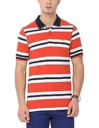 Urban Nomad Orange Men's Striped T-Shirt