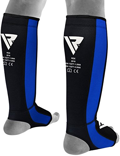 RDX Gel- SGN-T6B, Neoprene Shin Instep Guard, Blue, Small/Medium