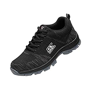 B Blesiya Men's Work Shoes, Steel Toe Safety Shoes