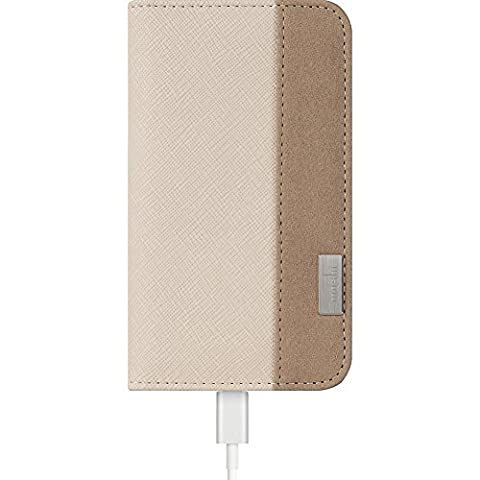 Moshi - Overture Etui Portefeuille pour iPhone 6 Plus - Beige Sahara