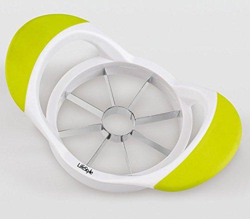 Life Style - Apfelteiler - ABS und Edelstahl - Weiß und Grün