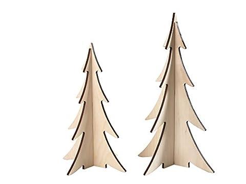 Weihnachtsbaum Set X-Mas 2017 NEW Tannenbaum Holz Dekoration Weihnachten