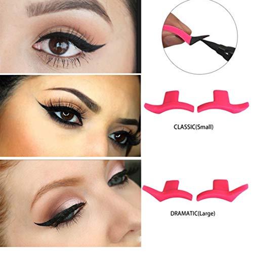 Eyeliner Vorlage Schablonenmodelle Professionelle Make-Up Neue Flügelart Kätzchen Große Cat Eye Wing Eyeliner Briefmarken