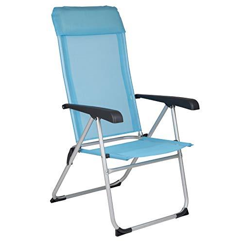 Klappstuhl Nice 8 Positionen verstellbar in türkis-blau • Campingstuhl Faltstuhl Gartenstuhl Stuhl Klappsessel Outdoor Camping