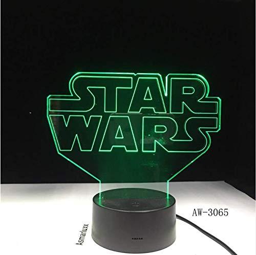 Geschenke Star Wars Logo Lampe 3D Nachtlicht Usb Bunte Led Tabelle Ambient Home Decor Schlafzimmer Nachtlicht