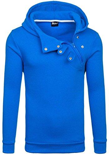 BOLF Herren Kapuzenpullover Sweatshirt Hoodie Pullover Sweatjacke Sportsweastshirt Mix 1A1 Indigo_06S