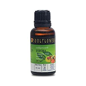 Soulflower Coldpressed Jojoba Carrier Oil, 30 ml