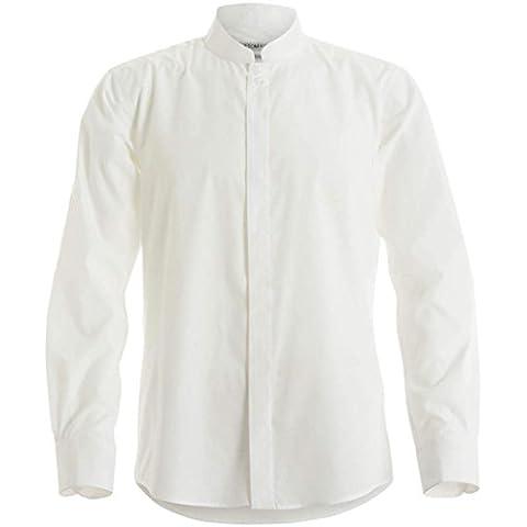 Herren Stehkragen Langarm Fitted Shirt von Kustom Kit