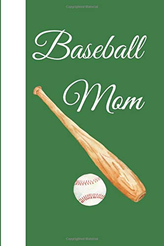 Green and White Baseball Mom Notebook