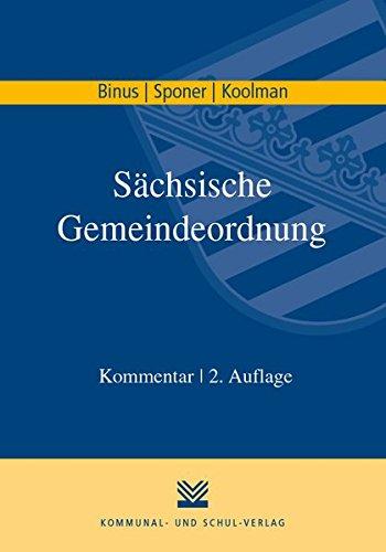 Sächsische Gemeindeordnung: Kommentar