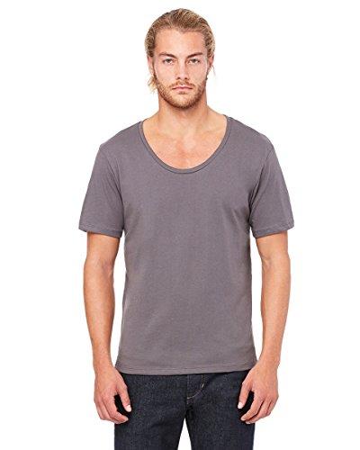 3406Bella + Canvas Herren Trikot breit Hals T-Shirt grau - Asphalt