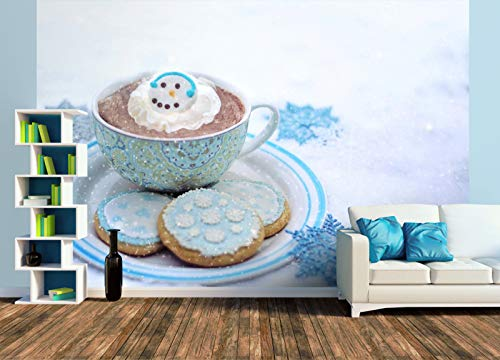 Premium Foto-Tapete Kekse und heiße Schokolade im Winter (versch. Größen) (Size XL | 465 x 310 cm) Design-Tapete, Wand-Tapete, Wand-Dekoration, Photo-Tapete, Markenqualität von ERFURT