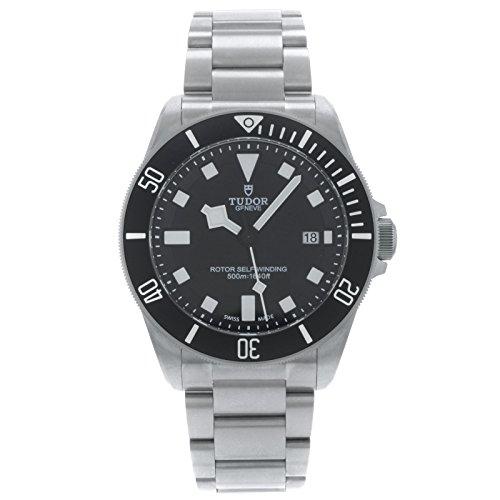 Tudor 25500TN - Reloj para hombres, correa de titanio color acero