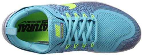 Nike Damen Womens Free Rn Distance 2 Running Hallenschuhe Mehrfarbig (polarized Blue / Volt-iron Purple)
