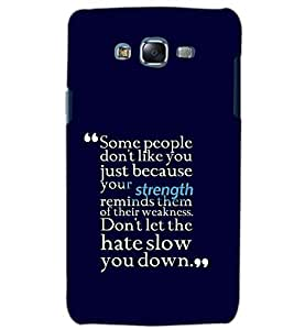 PrintDhaba QUOTE D-6133 Back Case Cover for SAMSUNG GALAXY ON5 (Multi-Coloured)