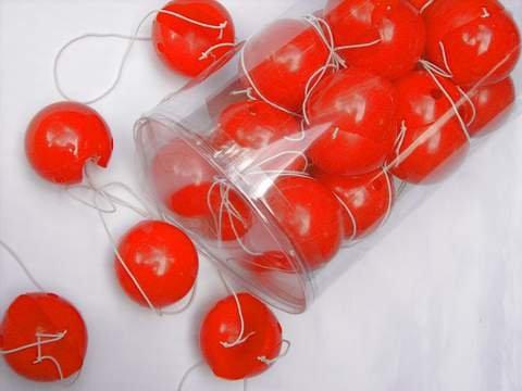 10 Stück Clown-Nasen, rot aus (Nasen Clown Rot)