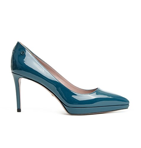 Gucci Femme 388314BNC003047 Bleu Cuir Escarpins