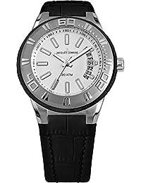Jacques Lemans Unisex Erwachsene Armbanduhr Multi Zifferblatt Quarz Leder 1-1771B