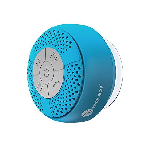 Altoparlante bluetooth impermeabile da doccia taotronics speaker stereo (ipx 4, a2dp / avrcp, vivavoce, microfono integrato, ventosa ) per iphone e smartphone android e tablet pc, ecc- azzurro