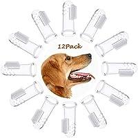 OneBarleycorn – 12 Unidades de Cepillo de Dientes de Silicona Suave para Perros y Gatos, Limpiador de Dientes para Mascotas, Limpieza Dental