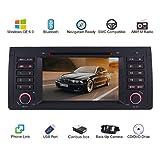 Autoradio stereo da 7 pollici 2 DIN per BMW E39 E38 M5 X5 serie 5 lettore DVD GPS navigatore satellitare Bluetooth supporto telecamera di parcheggio controllo volante 1080P video 8 GB carta mappa