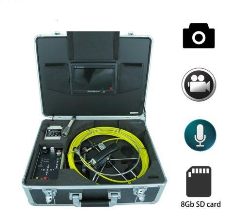 mabelstar 12LED-Licht wasserdicht Inspektionskamera Handheld Pipeline Inspektion Schubstange Schlange Video Kamera mit 50m Kabel (Meter Schlange 50)
