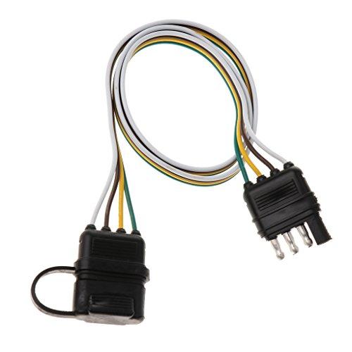 FLAMEER 32 Zoll 4 Pin RV Trailer Light Kabelstecker Adapter Flach Drahtverbinder