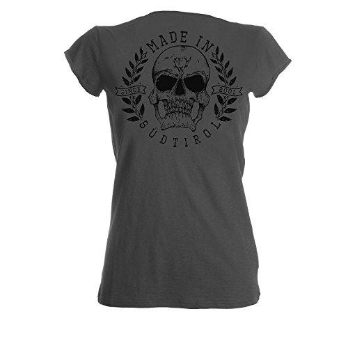 "Frei.Wild - ""Made in ST Prem"" V-Neck Girl-Shirt, Farbe: Grau Grau"