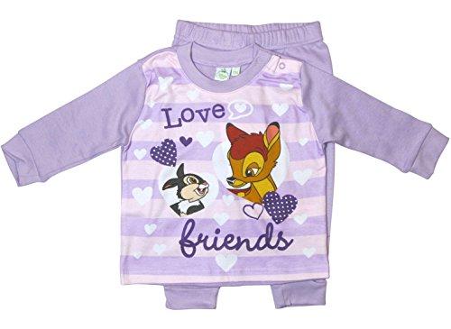 kotex Standard 100 Kollektion 2018 Schlafanzug 74 80 86 92 98 Mädchen Pyjama Disney Neu Hase Reh (Lila, 74 - 80) (Minnie Kleid Für Kleinkinder)