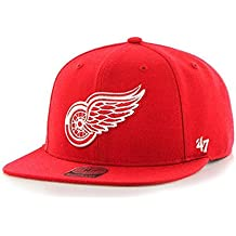 47 Gorra Plana roja Snapback de Detroit Red Wings NHL Captain Brand.   3f4f6f033ff