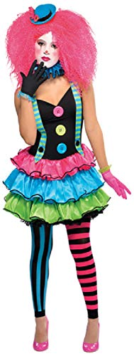 Fancy Me Teenager Mädchen Bunte Clown Bright Circus World Book Tag Woche Halloween Karneval Kostüm ()