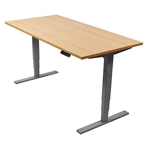 Ergotopia Elektrisch höhenverstellbarer Schreibtisch 5 Jahre Garantie | Ergonomischer Steh-Sitz...