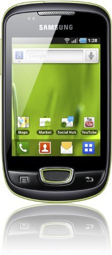 Samsung Mobile Samsung Galaxy Mini S5570i Smartphone (7,9 cm (3,14 Zoll) Touchscreen, 3,0 Megapixel Kamera, UMTS) lime-green
