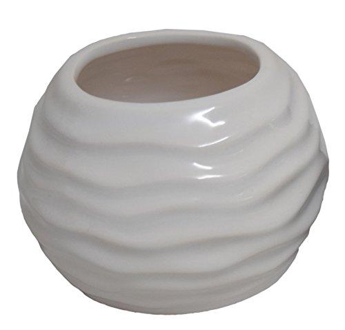 Fourwalls Ceramic Vase (11.5 cm x 9.5 cm x 7.5 cm, White)