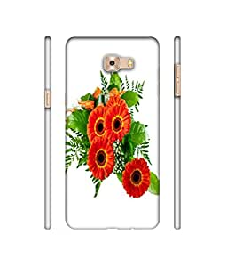 NattyCase Flower Design 3D Printed Hard Back Case Cover for Samsung Galaxy C9 Pro