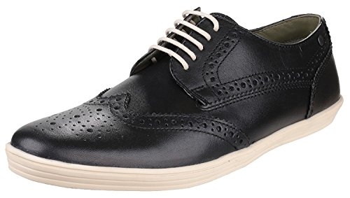 Base London Collo Basso Uomo Black-Brogue
