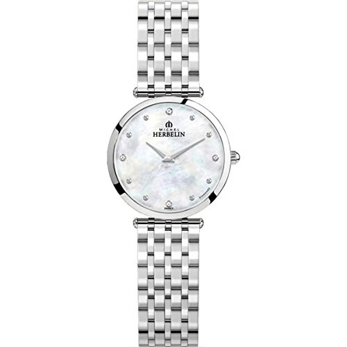Michel Herbelin Epsilon Femme Diamant 28mm Quartz Montre 17116/B89