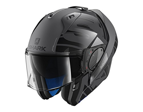 Shark casco modulable Evo One 2 lithion Dual, antracita, talla L, negro