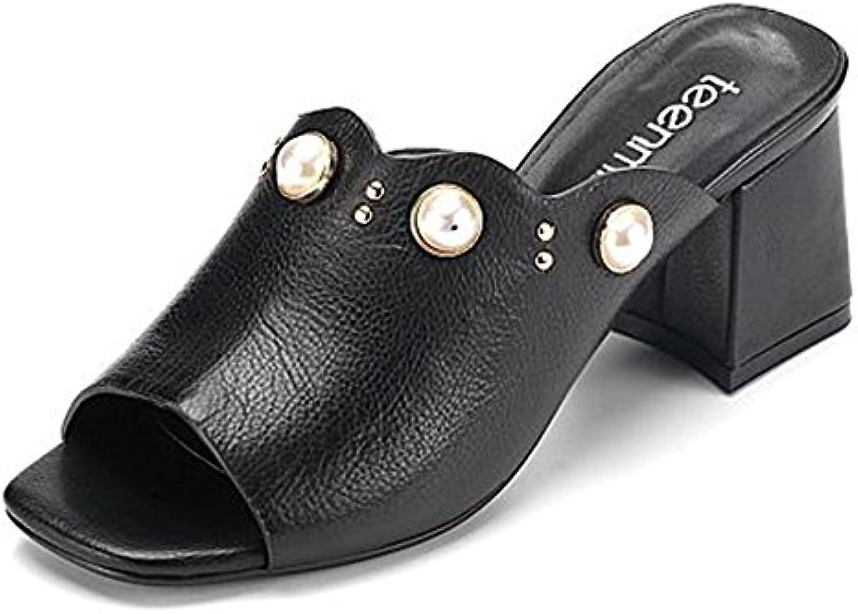 Confortevole Pneumatici Estraibili Estivi Pantofole semplici Casuali Pantofole Sottili (2 Coloreei Optional) (Dimensioni... | Materiale preferito  | Gentiluomo/Signora Scarpa