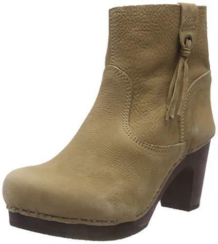 Sanita Damen Wood Viva medium Flex Boot Schlupfstiefel, Beige (Taupe 20), 38 EU